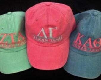Sorority Hats, Fraternity Hats, Greek Hats, Custom Hats, Women's Hats, Men's Hats, Baseball Caps, Embroidered Hats, Greek Letters