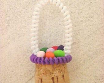Easter basket cork ornament