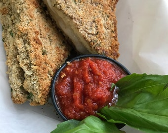 Vegan Mozzarella en Carrozza Sandwich