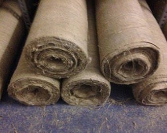 Hessian Roll fabric for upholstery/crafts etc 10oz - 50m x 54in