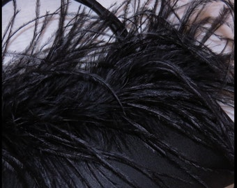 BLACK SATIN Purse MARIBU Evening Bag Maribu Clutch Purse Vintage Purse by BrowseMyVintageShop