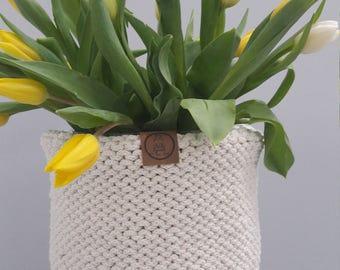 Knitting basket knit basket