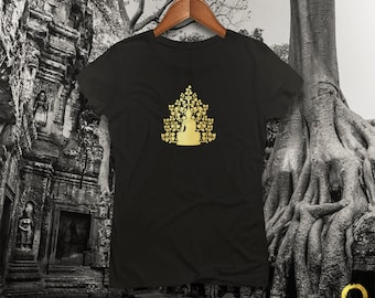 Buddha (Siddhartha) Sitting Under The Bodhi Tree Ladies Fitted Tee