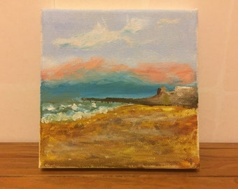 Sunset at Hastings - Painting
