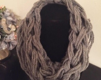 Chunky Knit Infinity Scarf Adult & Kids