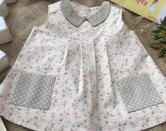 Baby dress Handmade traditional floral print