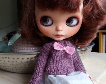 Plum Blythe handknitted sweater