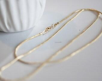 Full Gold Mesh chain snake 43cm