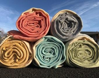 Set of Four Turkish Towels, Fouta towel, Pestemal Towel, Peshtemal Towel, Organic Towel, Bath Towel, Spa Towel, Hammam Towel