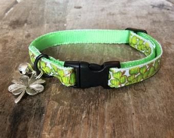 Shamrock cat collar
