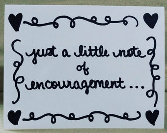 Encouragement - Hearts and Squiggles