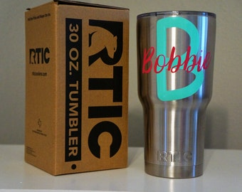 Personalized Initial & First Name 30 oz. RTIC Tumbler