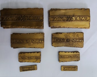 Star Trek Gold Pressed Latinum Prop x 2 sets