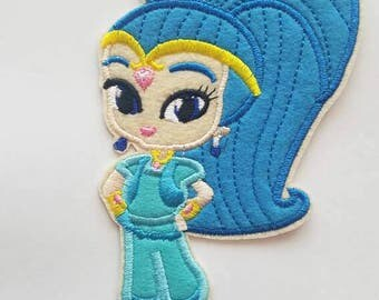 Shimmer and Shine inspired patch, Shine from Shimmer and shine iron on inspired patch, Shimmer and Shine birthday party inspired applique