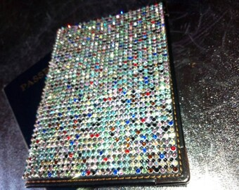 Rhinestone Passport Covers Rainbow by BabyKat RhinestoneDrama