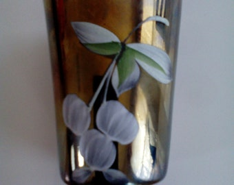 Carnival Glass Tumbler - Cherries and Little Flowers