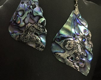 Multi-Colored abalone shell earrings