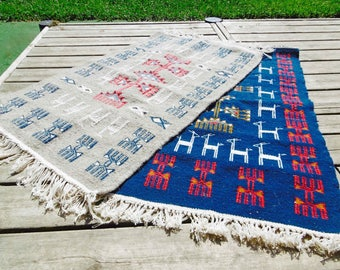 Promo! Set of 2 choice of color kilim rug-50% on the second rug and free shipping