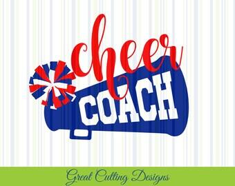 Cheer coach SVG Cut File cheer svg DXF cut file Cricut svg Silhouette svg Vinyl Cut File Digital cut file Cricut cut file cheer coach cut