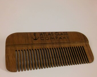 Non-Static Wooden Beard Comb