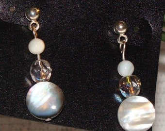 Crystal and Shell Earrings