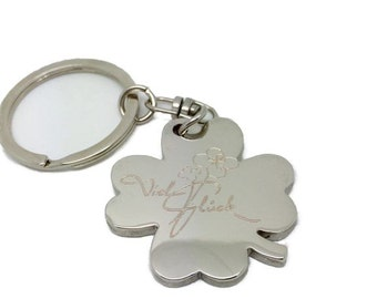 Keyring lucky charms good luck free engraving gloss with motive