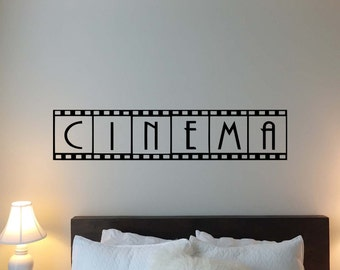 Cinema Wall Decal Film Strip Home Theater Movie Vinyl Sticker Home Room Kids Bedroom Decor Nursery Poster Art Mural Custom Print 54