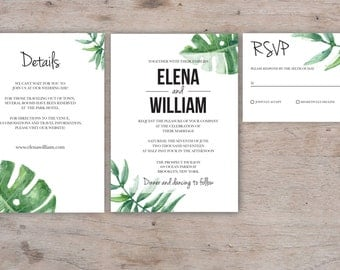 Botanical Invitation | Etsy