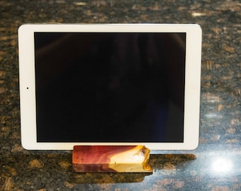 Beautiful Live Edge Juniper Wood iPad, Kindle, Tablet, Phone Stand