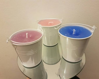 Small Bucket Scented candles