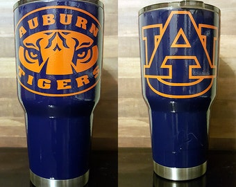 Auburn Tigers Tumbler (Powder Coated 30 oz) FREE SHIPPING