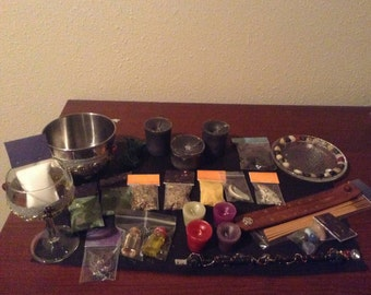 New Moon Triple Crone Divination Wiccan Altar Kit