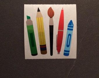 Sandylion vintage rare shiny pens and pencils stickers