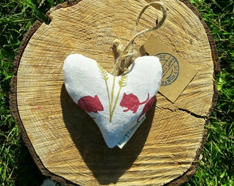 Old Time Country Mice Lavender Heart, Decorative heart, Lavender sachet, Scented pillow, Harvest Mice