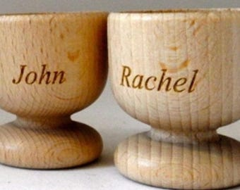 Personalised Laser Engraved Wooden Egg Cups. Your message! Great for Kids , a gift for any occasion!