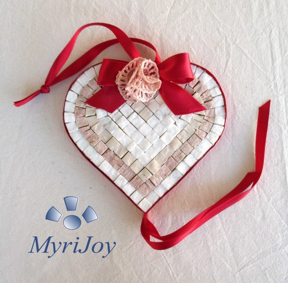 Craft project diy mosaic kit red heart diy gift for Craft ideas for women