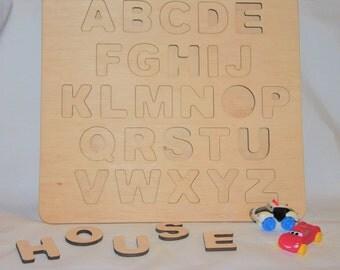 Alphabet Puzzle/ Wooden letters