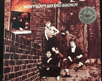 ON SALE Vintage 1971 The Who - Meaty Big and Bouncy Vinyl Record Good Condition