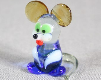 Mousy Glass Figurine