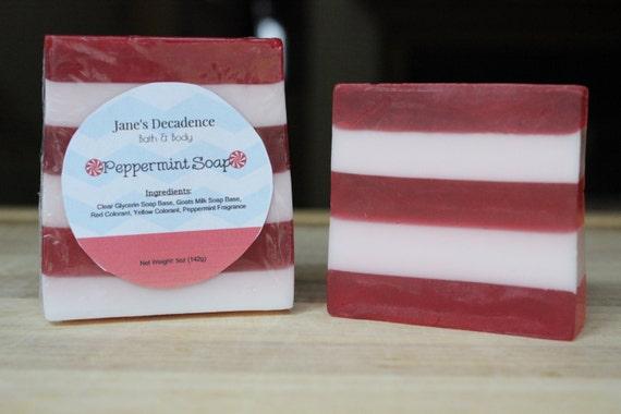 Peppermint Soap   Jane's Decadence Bath & Body