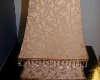 Set of 2  Pretty Square Cloth Lamp Shades