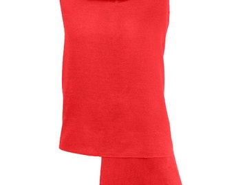 Red Pashmina / Red Shawl / Red Wrap - 100% Cashmere - Handmade in Nepal - Pashminas and Wraps