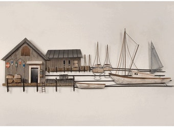 Sea Village Metal Wall Art - CW680