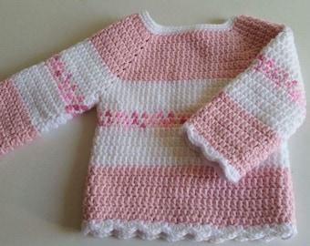 Crocheted handmade baby toddler jumper