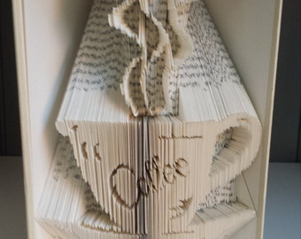 Coffee book fold pattern