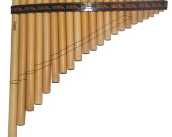 22 Pipes Bamboo Antara Pan Flute - Case Included - Shipping from USA
