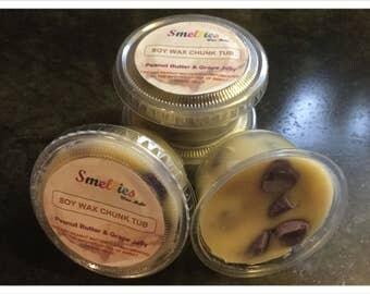 Peanut Butter & Grape Jelly Soy Wax Chunk Tub, Scent Shots, Wax Melts, Wax Tarts, Wax Cubes.