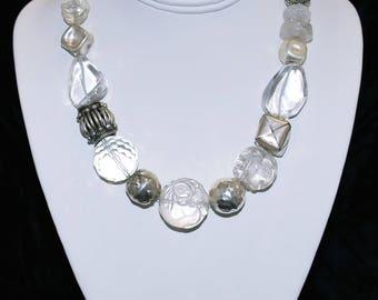 "17"" Necklace - Jasper Quartz"