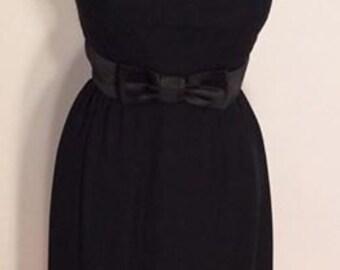 black mini dress 1960's vintage