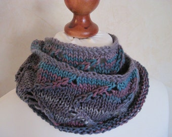Loop scarf Snood circle scarf love multicolor Winterloop Wolleloop